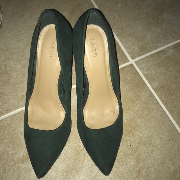 Shoes | Hunter Green Heels | Poshmark